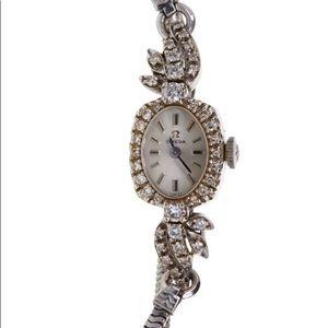 Vintage Omega Ladies 14k/Diamond Watch